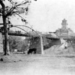 1872 Toll Bridge with Courthouse in Background