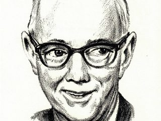 Caricature Drawing of Sam Acheson