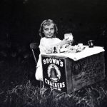 Little Girl with Milk and Crackers