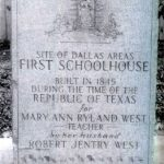 Historical Marker for First Dallas County Schoolhouse