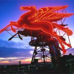 Magnolia's Flying Red Horse, Night View