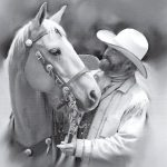 Portrait of Michael M Murphy & Horse