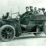Munger Family Seated in 1905 Automobile