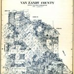 Early map of Van Zandt County