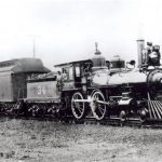 Tex and Pacific Engine, Dallas, 1873